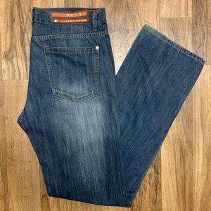 Prada Luna Rossa Dark Wash Denim Jeans 34x34